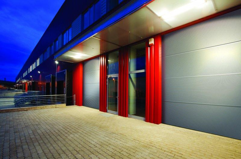 Industrial Kingspan Panel Door. AX036758; modern warehouse ... & Fleming | Steel | Doors | Coatings| Donegal | Northern Ireland ... pezcame.com